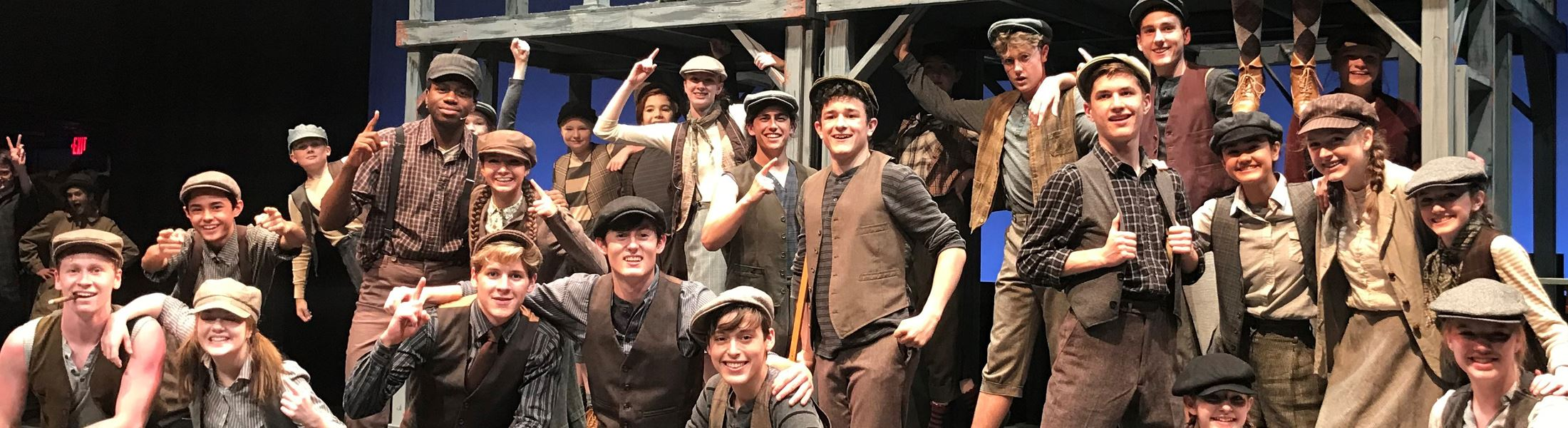 Banner photo of Newsies full cast