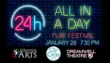 All in Day Play Festival logo