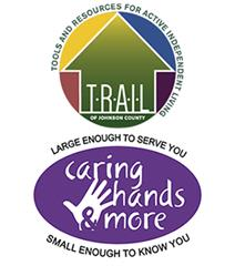TRAIL and Caring Hands logos